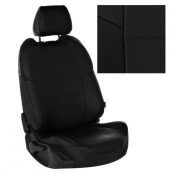 Модельные авточехлы для Lada (ВАЗ) XRAY из экокожи Premium, черный
