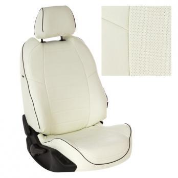 Модельные авточехлы для Daewoo Lanos из экокожи Premium, белый