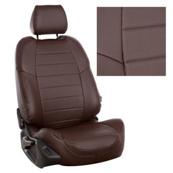 Модельные авточехлы для Citroen Berlingo II (2008-н.в.) 5 мест из экокожи Premium, шоколад