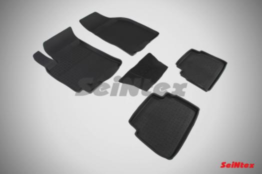 Резиновые ковры с высоким бортом в салон для Chevrolet Lacetti