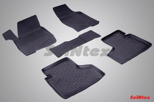 Резиновые ковры с высоким бортом в салон для Chevrolet Niva (2014-2017)