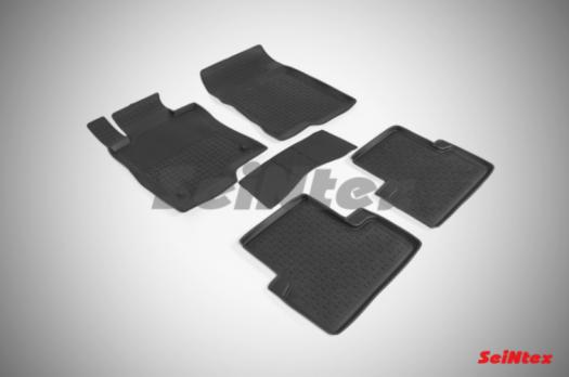 Резиновые ковры с высоким бортом в салон для Honda Accord VIII (2008-2013)