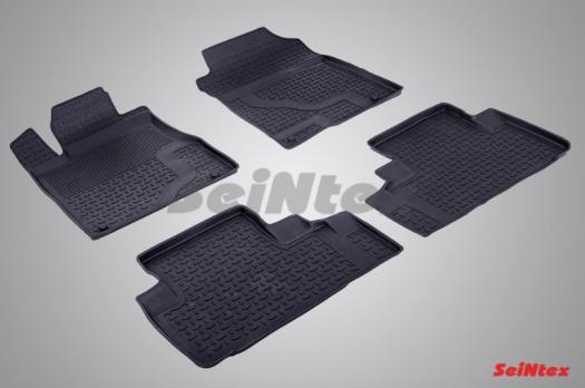 Резиновые ковры с высоким бортом в салон для Honda CR-V IV (2012-н.в.)
