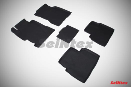Резиновые ковры с высоким бортом в салон для Honda Civic (2007-2012)