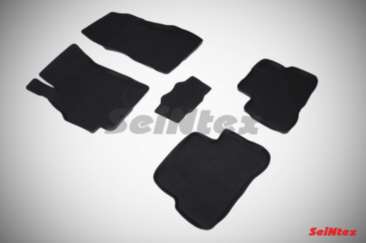 Резиновые ковры с высоким бортом в салон для Hyundai Accent