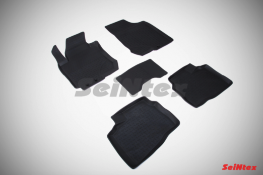 Резиновые ковры с высоким бортом в салон для Hyundai Elantra IV HD (2007-2010)
