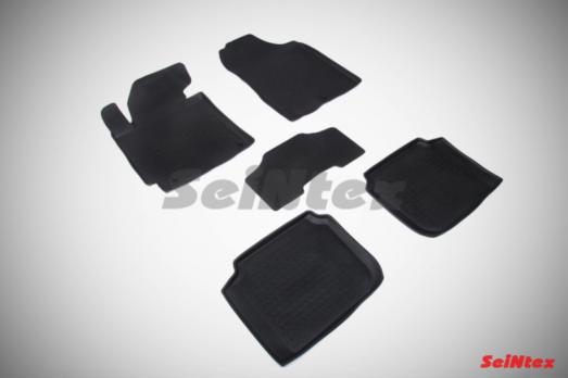 Резиновые ковры с высоким бортом в салон для Hyundai Elantra V MD (2010-2016)