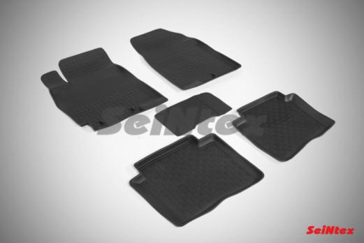 Резиновые ковры с высоким бортом в салон для Hyundai Solaris I (2010-2017)