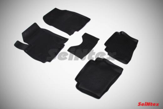 Резиновые ковры с высоким бортом в салон для Hyundai i20 (2008-2014)