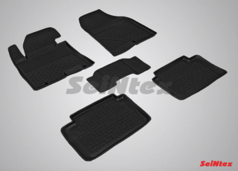 Резиновые ковры с высоким бортом в салон для Hyundai i30 (2012-2017)