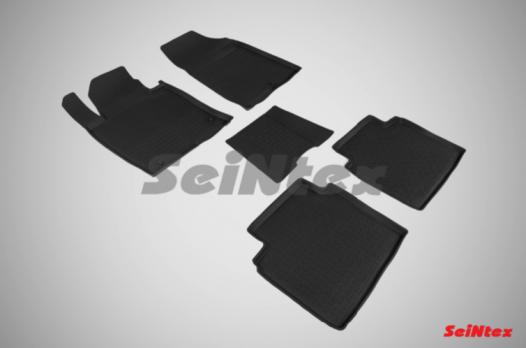 Резиновые ковры с высоким бортом в салон для KIA Optima IV (2016-н.в.)