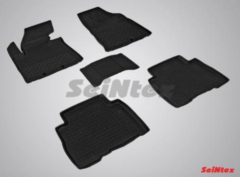 Резиновые ковры с высоким бортом в салон для KIA Sorento (2012-2015)