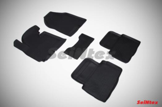 Резиновые ковры с высоким бортом в салон для KIA Sportage III (2010-2015)