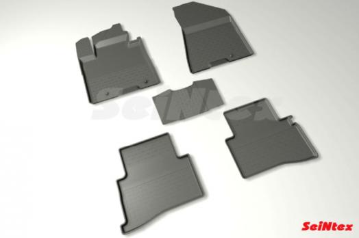 Резиновые ковры с высоким бортом в салон для KIA Sportage IV (2015-н.в.)