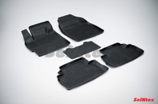 Резиновые ковры с высоким бортом в салон для Mazda CX-7