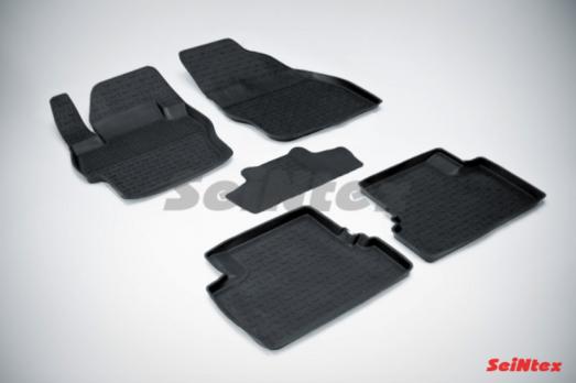 Резиновые ковры с высоким бортом в салон для Mazda 3 (2010-н.в.)