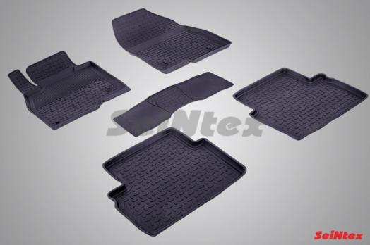 Резиновые ковры с высоким бортом в салон для Mazda 3 (2013-н.в.)