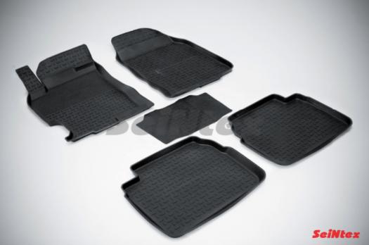 Резиновые ковры с высоким бортом в салон для Mazda 6 (2008-2013)