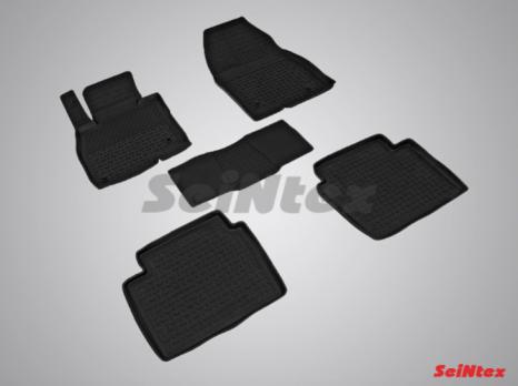 Резиновые ковры с высоким бортом в салон для Mazda 6 (2012-н.в.)