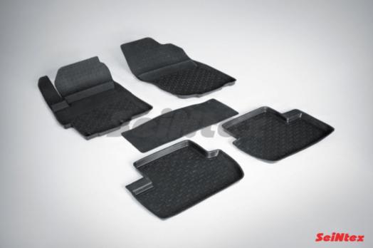 Резиновые ковры с высоким бортом в салон для Mitsubishi Lancer X (2012-н.в.)