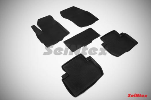 Резиновые ковры с высоким бортом в салон для Mitsubishi Outlander XL (2006-2012)