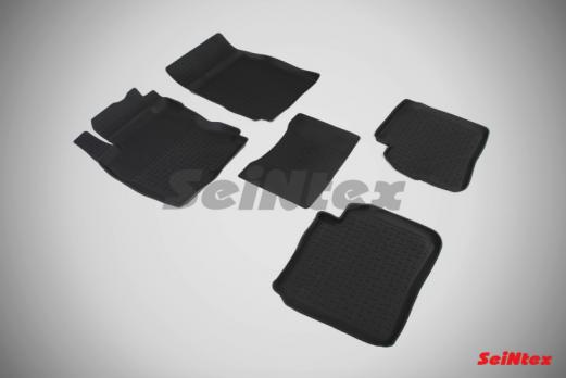 Резиновые ковры с высоким бортом в салон для Nissan Note (2005-2014)