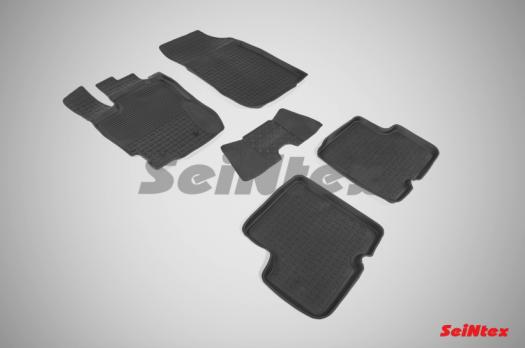 Резиновые ковры с высоким бортом в салон для Nissan Terrano (2016-н.в.)