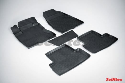 Резиновые ковры с высоким бортом в салон для Nissan X-Trail T31 (2007-2015)