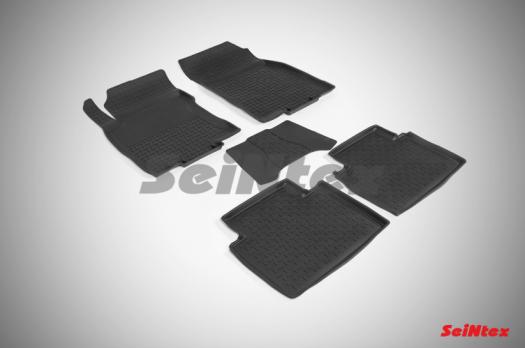 Резиновые ковры с высоким бортом в салон для Nissan X-Trail T32 (2015-н.в.)