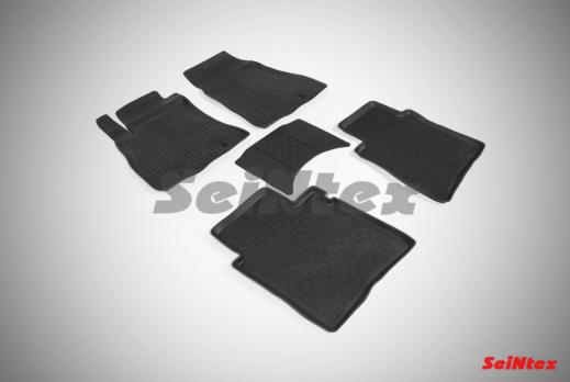 Резиновые ковры с высоким бортом в салон для Nissan Sentra