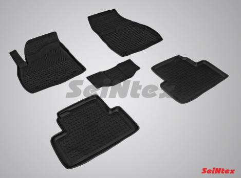 Резиновые ковры с высоким бортом в салон для Opel Zafira C (2012-н.в.)