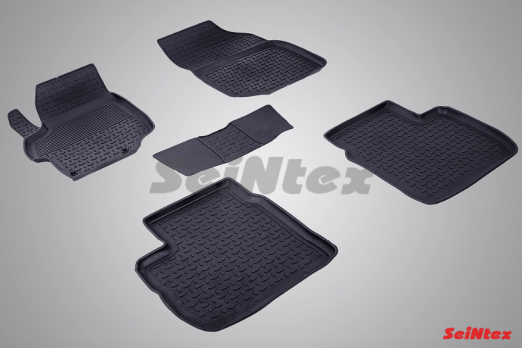 Резиновые ковры с высоким бортом в салон для Peugeot 301