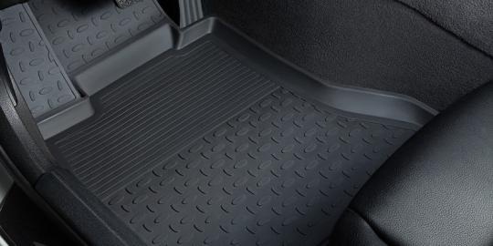 Резиновые ковры с высоким бортом в салон для Renault Logan (2014-н.в.)