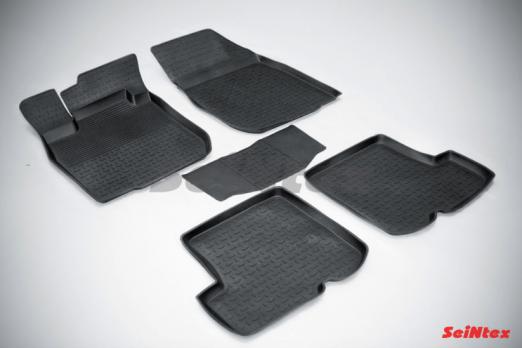 Резиновые ковры с высоким бортом в салон для Renault Sandero (2009-2014)