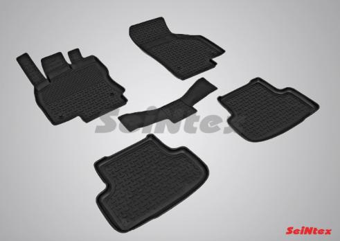 Резиновые ковры с высоким бортом в салон для Skoda Octavia A7 (2013-н.в.)