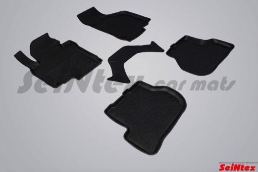 Резиновые ковры с высоким бортом в салон для Skoda Octavia A5 (2006-2013)