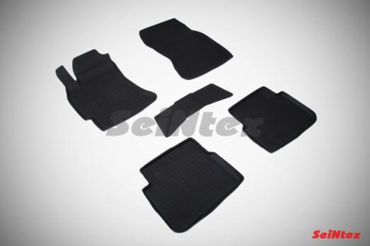 Резиновые ковры с высоким бортом в салон для Subaru Forester III (2008-2013)