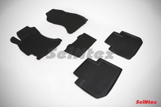 Резиновые ковры с высоким бортом в салон для Subaru Forester IV (2013-н.в.)