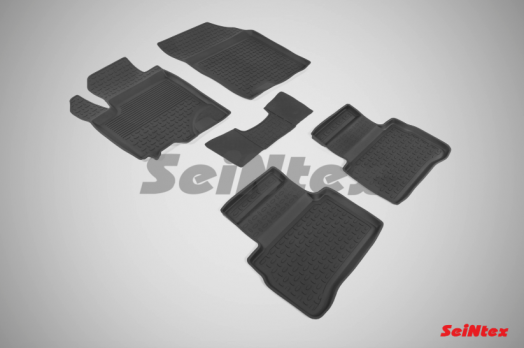 Резиновые ковры с высоким бортом в салон для Suzuki Vitara (2015-н.в.)