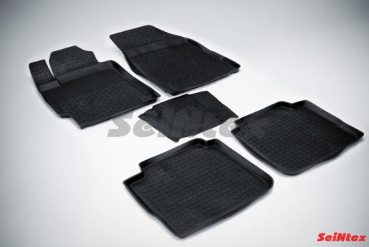 Резиновые ковры с высоким бортом в салон для Toyota Camry V40 (2006-2011)