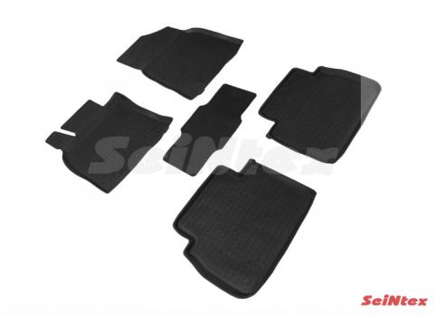 Резиновые ковры с высоким бортом в салон для Toyota Camry V70 (2017-н.в.)
