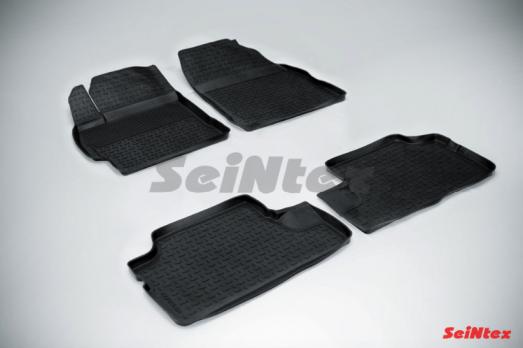 Резиновые ковры с высоким бортом в салон для Toyota Corolla (2007-2013)