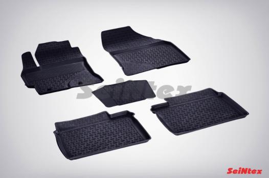 Резиновые ковры с высоким бортом в салон для Toyota Corolla (2013-н.в.)