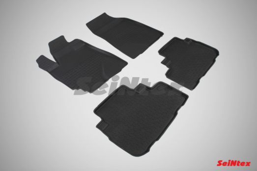 Резиновые ковры с высоким бортом в салон для Toyota Highlander (2007-2013)