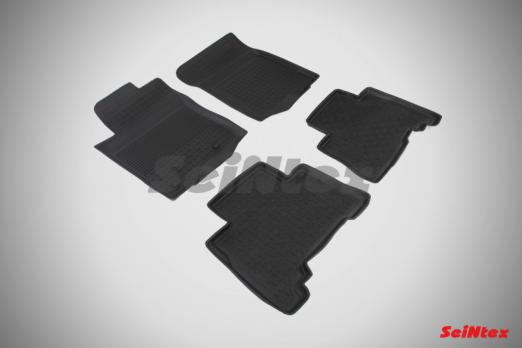Резиновые ковры с высоким бортом в салон для Toyota Land Cruiser Prado 150 (2014-2017)