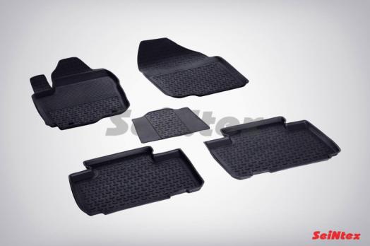 Резиновые ковры с высоким бортом в салон для Toyota RAV-4 (2014-н.в.)