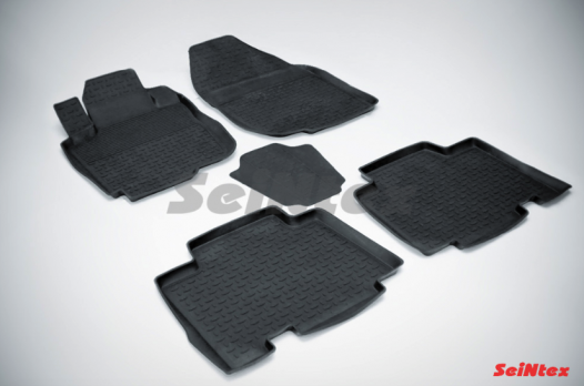 Резиновые ковры с высоким бортом в салон для Toyota RAV-4 (2006-2014) Long