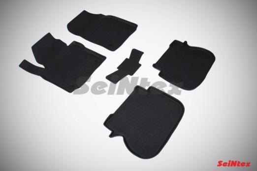 Резиновые ковры с высоким бортом в салон для Volkswagen Caddy (2004-2015) 5 мест
