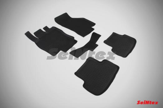 Резиновые ковры с высоким бортом в салон для Volkswagen Golf VII (2012-н.в.)
