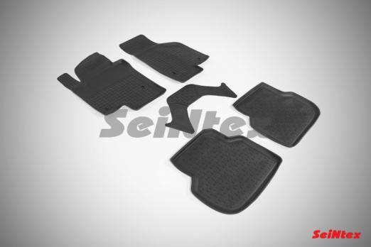 Резиновые ковры с высоким бортом в салон для Volkswagen Jetta VI (2011-н.в.)